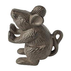 cast iron door stop mouse wedge doorstop knob heavy solid cute