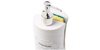 sponge kitchen soap rack sink mat accessories organization holder ceramic decorative white