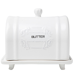french country decor butter holder dish large white ceramic counter top fridge