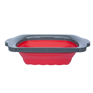 over the sink collapsible colander large red