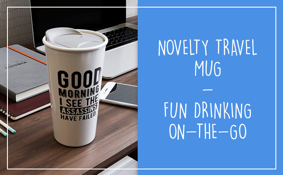 coffee mug travel funny gift women novelty ceramic large lid double wall colleague coworker mother