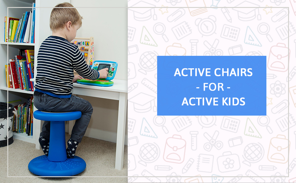 Tremendous Active Kids Chair Wobble Chair Pre School Elementary School Age Range 3 7Y Grades K 1 2 14 High Flexible Seating Classroom Corrects Gmtry Best Dining Table And Chair Ideas Images Gmtryco