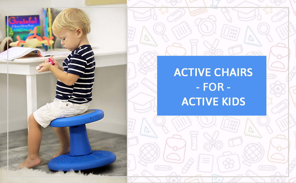Incredible Active Kids Chair By Studico Wobble Chair Toddlers Kindergarten Age Range 2 3 Flexible Seating Classroom 10 Tall Corrects Posture Blue Gmtry Best Dining Table And Chair Ideas Images Gmtryco