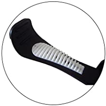 Special rubberized grips help hold signs or pads in place.