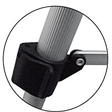 Clamps to provide stability and adjustable height.