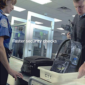 TSA airport security check pass instant no wait compliant bag backpack luggage tote briefcase pack