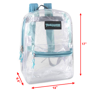 17 18 inch backpack thick industrial strength pvc mesh pockets
