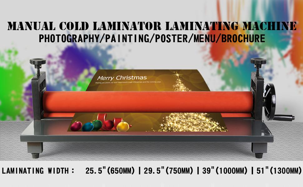 39 Laminating Manual Mount Machine Cold Photo Vinyl Film Invitations Laminator