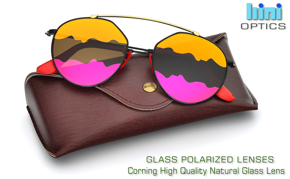 0dfd4287b79 Amazon.com  BNUS Italy made Fashion Round Style Corning Flat Lenses ...