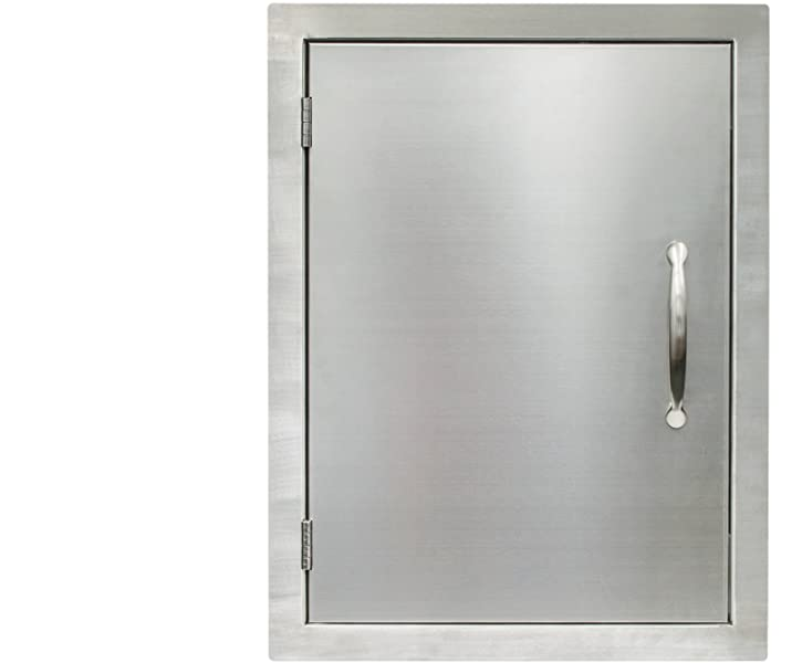 Houseables BBQ Access Door, Stainless Steel, Vertical, Single, 17 x ...