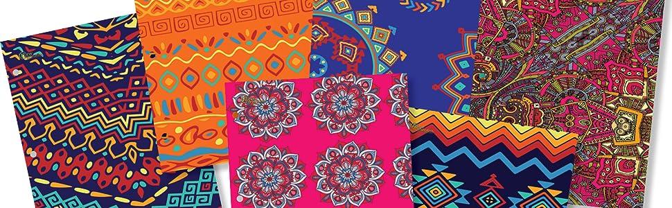 Amazon.com: Nueva Generación – étnica – 2 bolsillo Carpeta ...