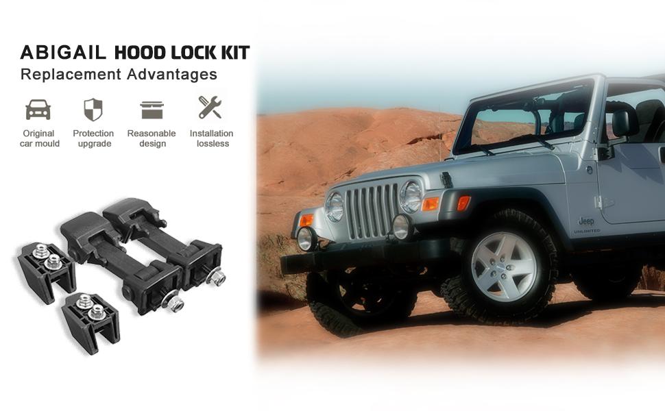 Daystar KJ09145BK Black Hood Wranglers Hood Latch Upgrade for JK Wrangler