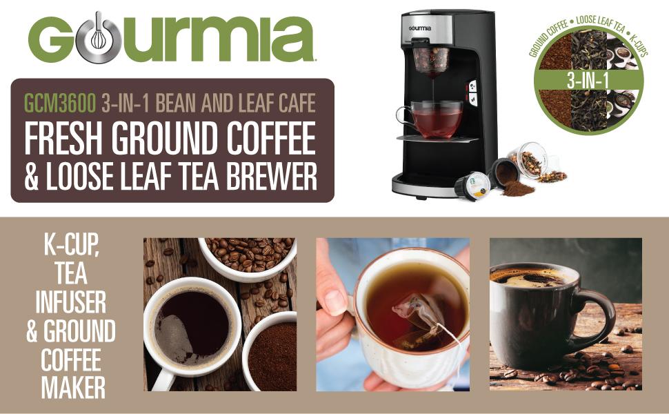 Amazon Com Gourmia Gcm3600 3 In 1 Coffee Amp Tea Maker K