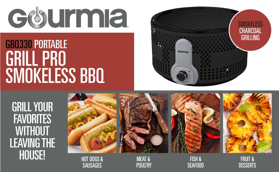 Amazon.com: Gourmia GBQ330 - Parrilla de barbacoa eléctrica ...