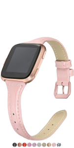 Slim Shiny Fitbit Versa Bands Glitter Coated Leather Band Replacement Strap Accessories Women