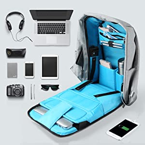 611ae6264 Amazon.com: Oscaurt Anti-theft Travel Backpack, Business Laptop ...