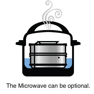 dKEH8WnCS7Sw. UX300 TTW Silva Stackable Pressure Cooker Accessories Compatible with Instant pot 6 qt + 2 Lids + Safety Handle+ Recipe E-Book - Pot in Pot Food Steamer Inserts Pans    Product Description
