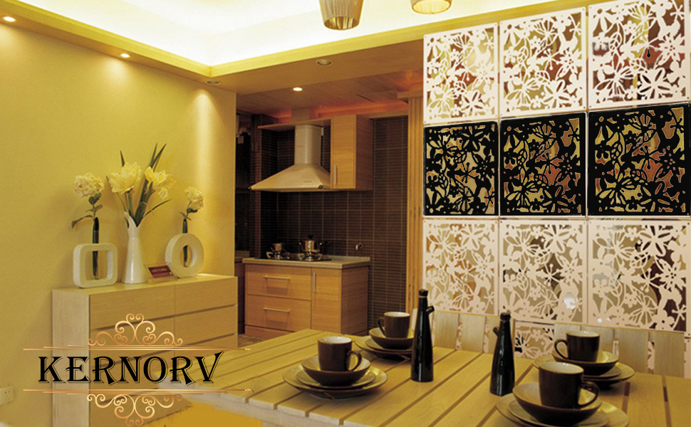 Kernorv Hanging Room Divider Made of Environmentally PVC, 12 PCS Parions on