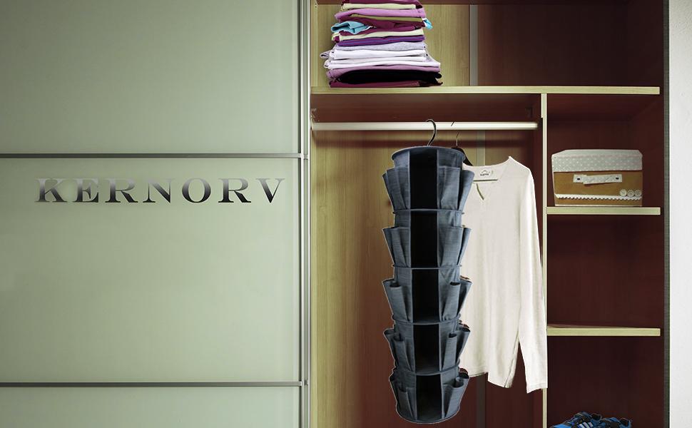 Genial Kernorv 5 Shelf Hanging Closet Organizer