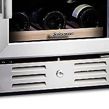 freestanding wine fridge