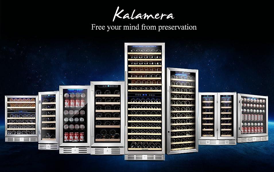 Amazon.com: Kalamera 15'' Wine Cooler 30 Bottle Built-in