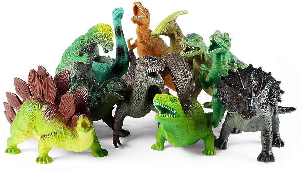 Amazon.com: Boley 12 Pack 9-Inch Educational Dinosaur Toys ...
