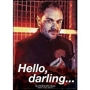 Ata-Boy Supernatural Crowley 'Hello, Darling' 2.5quot; x 3.5quot; Magnet for Refrigerators and Lockers