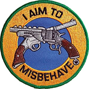 """Ata-Boy Firefly """"I Aim to Misbehave"""" 3"""" Full Color Iron-On Patch"""