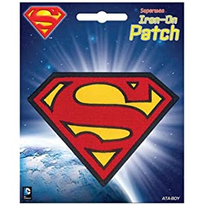 "Ata-Boy DC Comics Superman Logo 3"" Full Color Iron-On Patch"