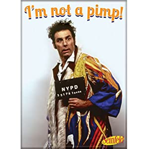 Ata-Boy Seinfeld 'I'm Not a Pimp' 2.5quot; x 3.5quot; Magnet for Refrigerators and Lockers