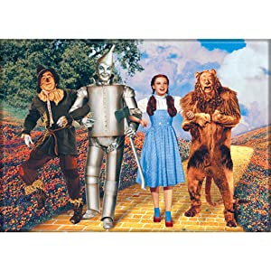 """Ata-Boy Wizard of Oz On The Yellow Brick Road 2.5"""" x 3.5"""" Magnet for Refrigerators and Lockers"""