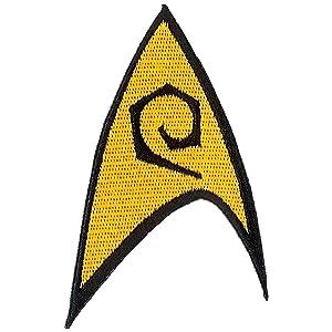 "Ata-Boy Star Trek Engineering Insignia 3"" Full Color Iron-On Patch"