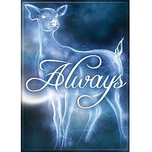 "Ata-Boy Harry Potter Always Deer 2.5"" x 3.5"" Magnet for Refrigerators and Lockers"