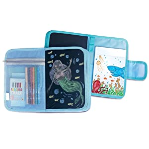 The Piggy Story 'Dinosaur World' Chalk n' Marker ArtFolio with Doodle Pad for Portable Play