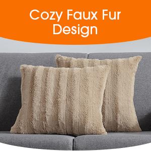 cozy faux fur design