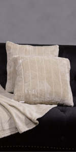 Ultra Cozy Striped Flannel Throw Pillows