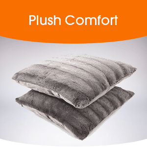 plush, comfortable throw pillows