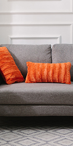 Ultra Cozy Faux Fur Microplush Reversible Throw Pillows