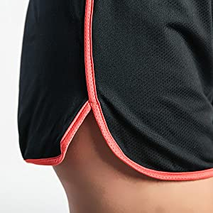 fitness gym jogging beach mesh shorts women