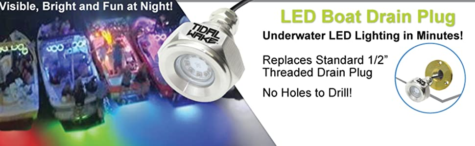 """Replaces standard 1/2"""" threaded drain plug, No holes to drill!"""