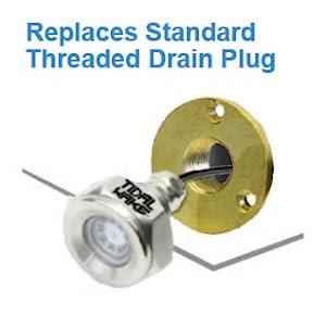 replaces standard drain plug