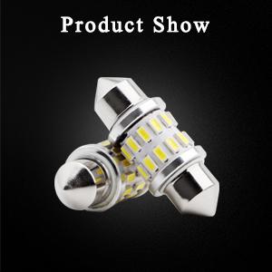 EverBrightt 4-Pack Cool White 31MM 3014 24SMD LED Festoon Light Lamp for Map Light Dome Light Trunk Light Plate Light
