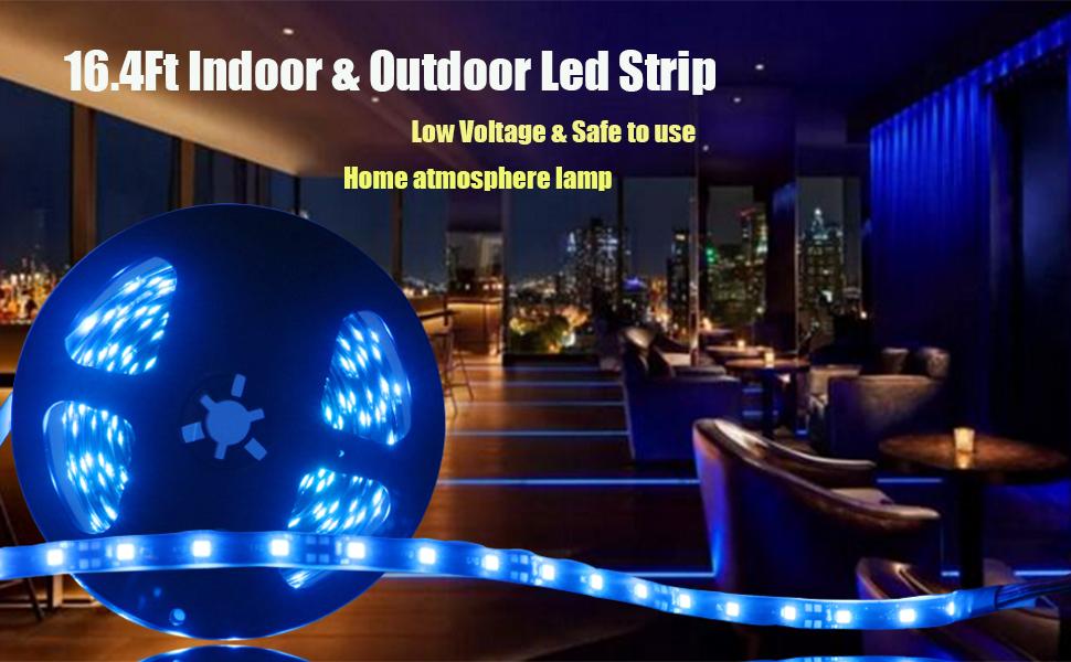 Amazon Com Everbright Blue 5m 16 4ft 3528 Smd 300 Led