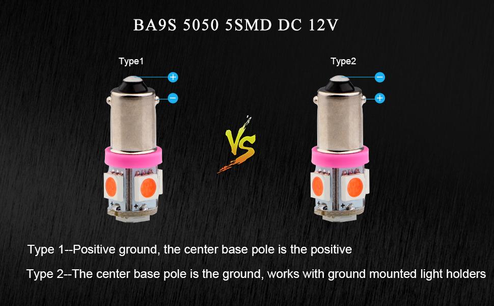 EverBrightt 20-Pack Pink BA9S 5050 5SMD Led Car Door Lamp License Plate Lights Bulbs DC 12V