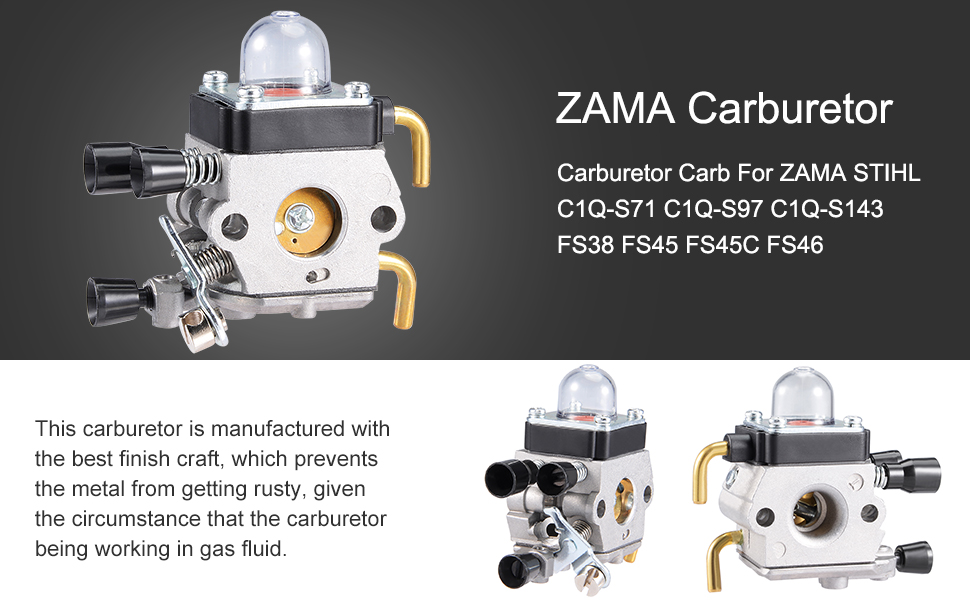 Chainsaw Spare Parts Carburetor Carb For ZAMA STIHL C1Q-S71 C1Q-S97 C1Q-S143 FS38 FS45 FS45C FS46