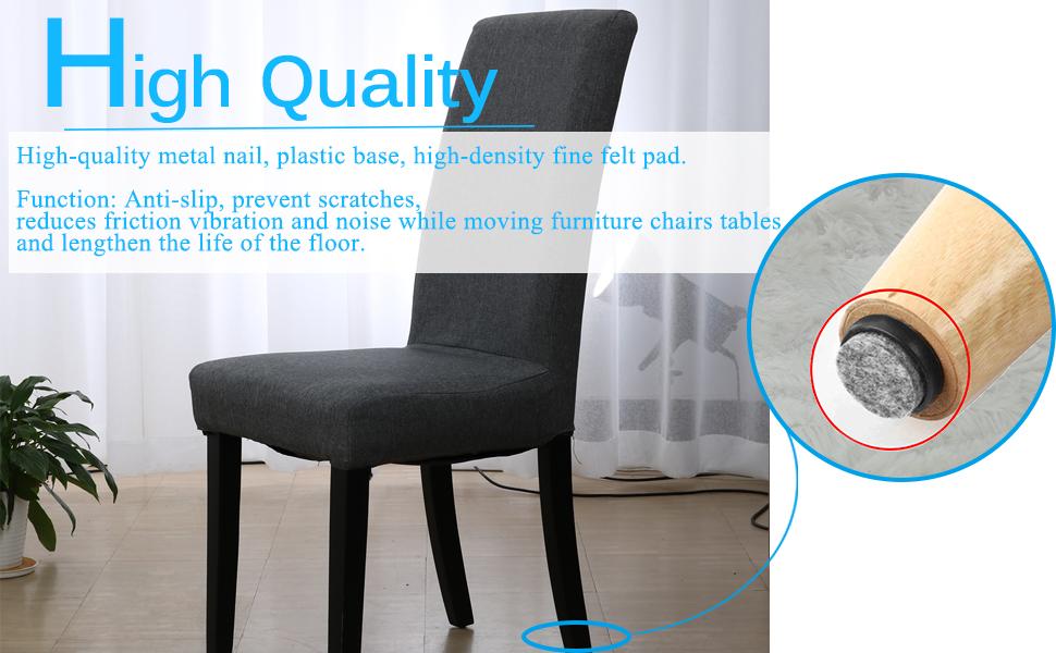 18Pcs//Set Floor Furniture Wall Chair Scratch Protector Felt Round Pads/%#