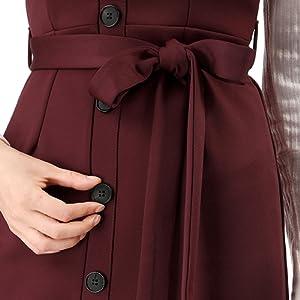 Allegra K Women's Button Decor Strap Sheath Suspender Overall Jumper Dress