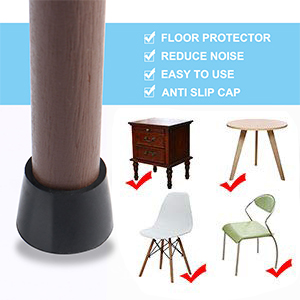 "Brown Plastic Glides 5//8/"" Diameter chair seat table stool leg furniture move ..."