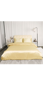 silk stain duvet cover bed sets high quality