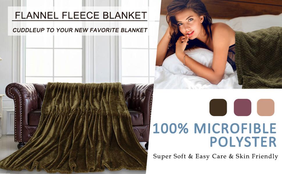 Fuzzy Soft Waffle Fleece Bed Blanket Mesh Flannel Plush Blankets Twin Full Queen